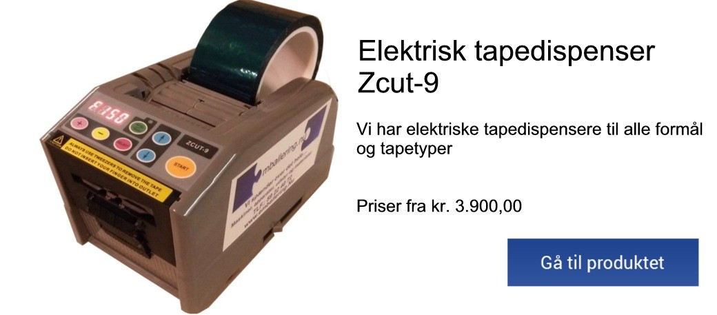 Zcut-9 Elektrisk Tapedispenser